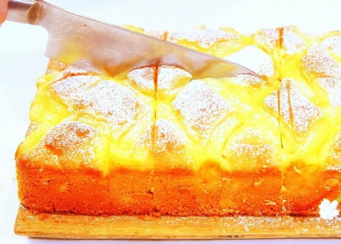 Обалденный пирог с яблоками и заварным кремом