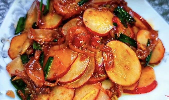 Корейский салат из редиски