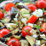 Сицилийский салат с баклажанами