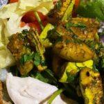 Салат с грудкой и кабачками
