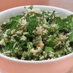 Ленивый салат из петрушки и пармезана