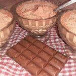 Десерт из ряженки с какао
