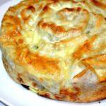 Пирог-улитка из лаваша