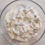 Сметанно-грибной соус с луком