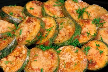 Хрустящие кабачки с сыром, запеченные в духовке