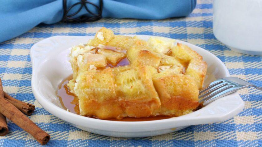 Французские тосты с яблоками в микроволновке