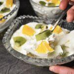 Обалденный десерт с различными фруктами: он однозначно приживется на Вашей кухне. Делюсь рецептом
