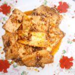 Тофу жареный - Тофу (тыби) по-корейски, с кунжутом