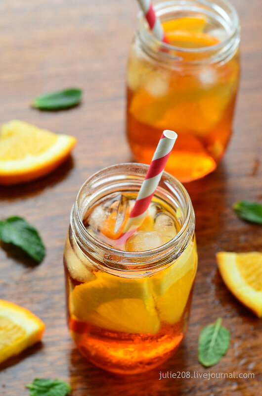 Апельсиновый холодный чай