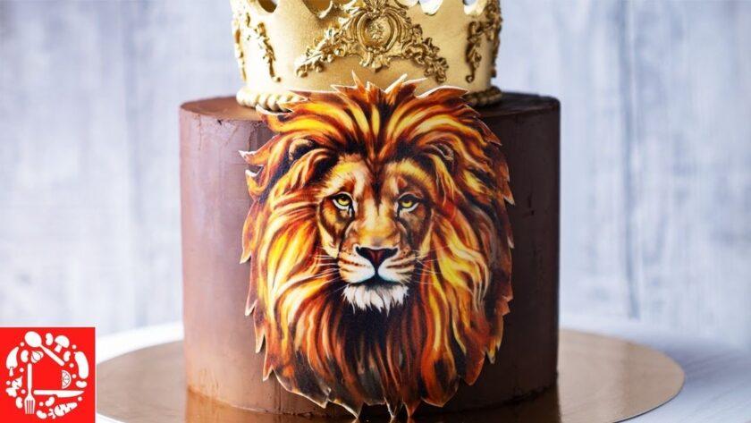 Торт для Мужчины «Король ЛЕВ». Как украсить торт своими руками?