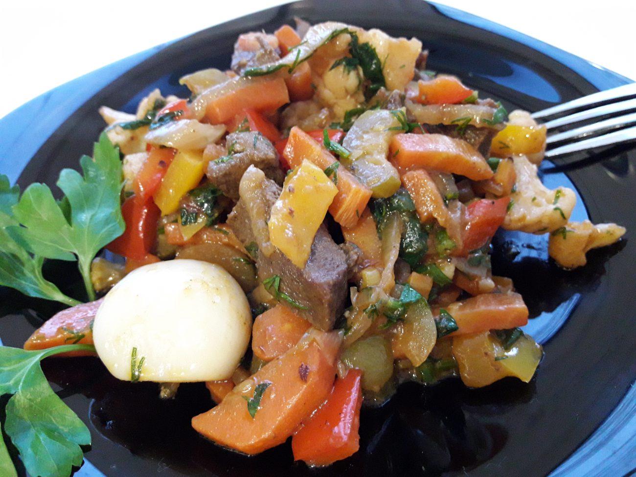 Аппетитное овощное рагу с мясом