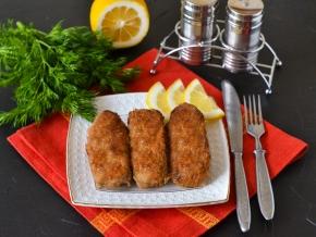 Мясные пальчики из свинины с сыром